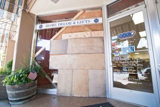 Marcus Larson/News-Register##Mac Prescription Shop in downtown was broken into early Sunday morning.