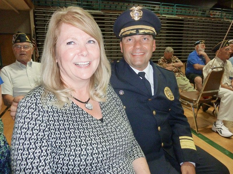 Starla Pointer/News-Register##Carlton Police Chief Kevin Martinez and his wife,Christy, attended the state American Legion convention. He was named the Legion's Western Region Law Enforcement Officer of the Year.