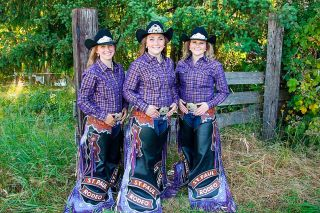 Submitted photo##St. Paul Rodeo Princess Rebekah Lambert of Aurora, and Queen Brianna Eby and Princess Tess Scott, both of McMinnville.