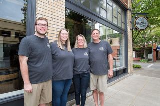 Marcus Larson/News-Register##The Queener family is opening Two Dogs Taphouse this month in McMinnville.