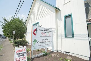 Marcus Larson/News-Register##Dundee Covenant Church has been renting space from United Methodist Church for several years. Its congregation will continue to meet there.