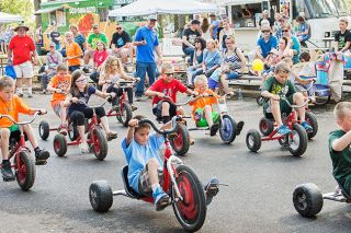 News-Register file photo##Youngsters will race down the ramp in Beulah Park during Yamhill Derby Days.