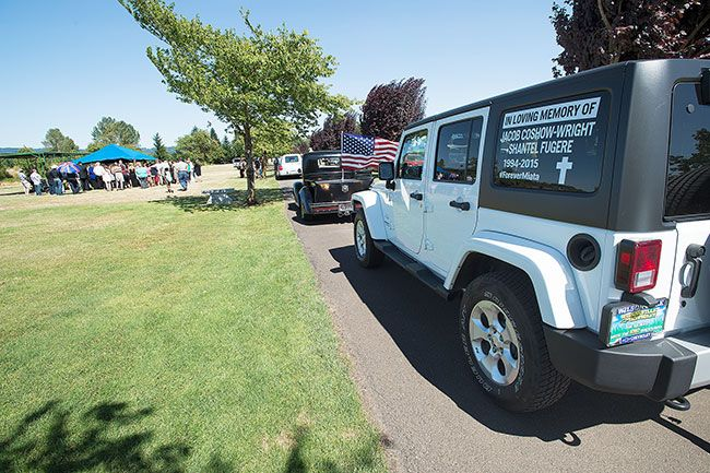 Marcus Larson/News-Register##Tributes to both Jake Coshow-Wright and Shantel