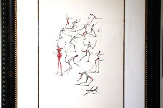 "##This hand-signed piece was surrealist Salvador Dali's original study for his ""Les Demons"" etching, later produced in 1967. The study is part of a three-day exhibit and auction this month at Lawrence Gallery."