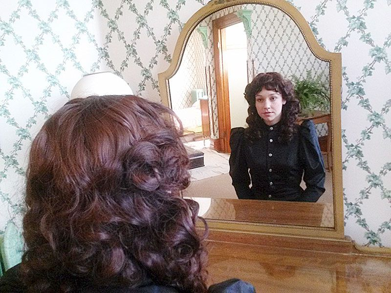 "Photo by Tom Henderson##Caroline Barry stars as Nellie Bly, a 19th-century journalist who went undercover in an insane asylum in 1887, in the movie ""10 Days in a Madhouse."""