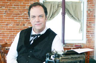 "Photo by Amy Timshel##Tom Henderson appears as 19th-century columnist Edgar Wilson Nye in the indy movie ""10 Days in a Madhouse."""