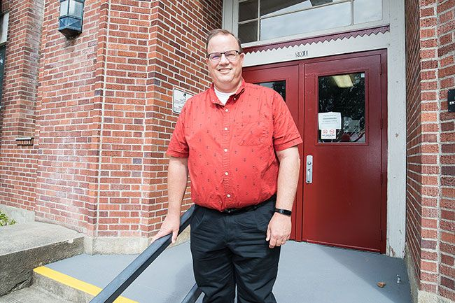 Marcus Larson/News-Register##Dayton school superintendent Steve Sugg is preparing for the start of school during the pandemic.