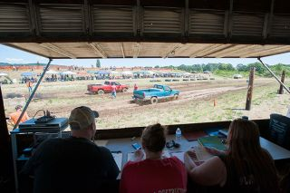 Marcus Larson/News-RegisterThe Willamina Mud Drags held a second event this year to try and raise more money for the town's Fourth of July fireworks show.