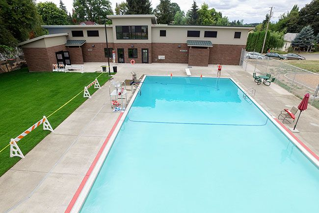 Submitted photo##A ribbon cutting ceremony for the new Carlton pool house is scheduled for Aug. 2 at 4:14 p.m.