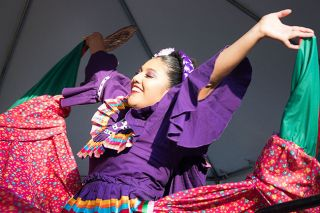 Anna Lieberman / News-Register##Karla Cruz dances with Ballet Folklorico Mexico en la Piel during the Newberg Old-fashioned Festival.