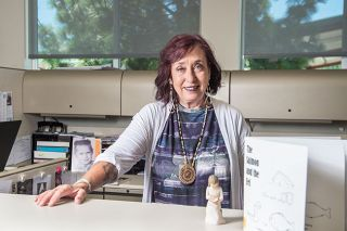 Rusty Rae/News-Register##Kathy Cole, librarian for the Confederated Tribes of Grand Ronde, has spent years teaching chinuk wawa, one of the first common trading languages of the Pacific Northwest.