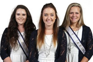 Rockne Roll / News-Register##2016 Yamhill County Fair & Rodeo ambassadors Erin Rush, Samantha Roff and Courtney Croft.