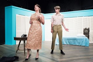 "News-Register file photos ## Holly Spencer has been acting at Gallery Theater since she was a teenager. One of her recent roles include the seductive Mrs. Robinson in the current production of ""The Graduate."""