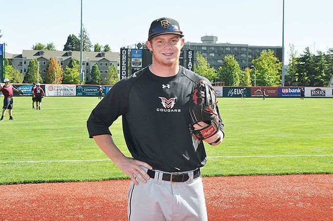 Robert Husseman/News-RegisterLinfield senior outfielder Jo Carroll is playing for the Bend Elks of the West Coast League, a team Carroll grew up watching in Bend, this summer.