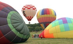 News-Register file photo##Hot air balloons will lift off early Saturday morning during the Valley View air show.
