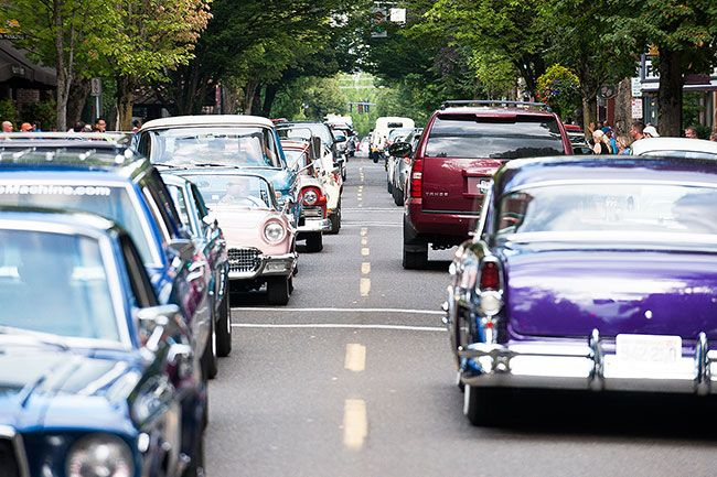 News-Register file photoCruising classics crowd Third Street during last year s GutFest.