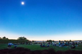 Rockne Roll/News-Register##An estimated 5,500 people attended the eclipse event at the Evergreen Aviation & Space Museum to catch the awesome moment of totality.
