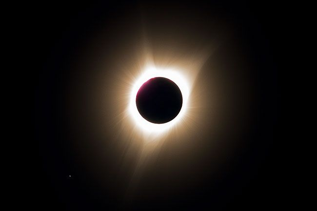 Marcus Larson/News-Register##The August 21, 2017 total solar eclipse during totality.