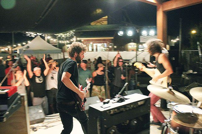 Marcus Larson / News-Register##The Stone Foxes from San Francisco delight the crowd with high-energy blues-rock.