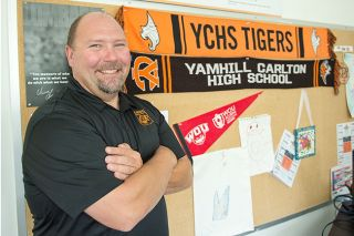 Rusty Rae / News-Register##Clint Raever said he s excited for his new job as principal of Yamhill-Carlton High School.