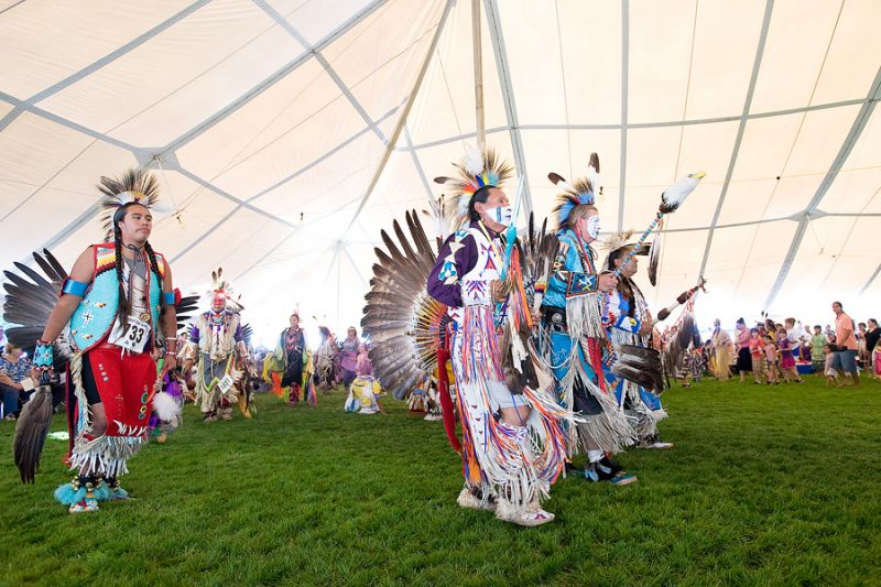 News-Register file photo##The Grand Ronde tribe's annual Contest Powwow draws hundreds of dancers.