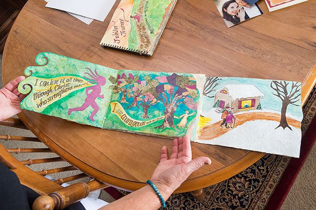 Marcus Larson/News-Register##Newby wrote and illustrated this children's book that encourages self-confidence.