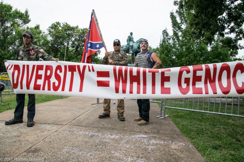 Rodney Dunning photo/Flickr creative commons##Participants of the recent Unite The Right rally in Charlotteville.