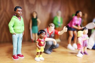 Rockne Roll / News-Register##Figurines line the shelves of the play therapy room at Juliette s House in McMinnville.