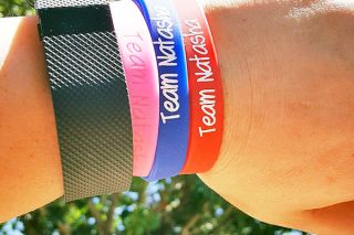 Submitted photo##Team Natasha wristbands and other items will be sold at a Saturday fundraiser for the local crash victim.