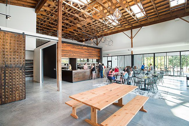 Marcus Larson/News-Register##Argyle's new, larger tasting room in Dundee was completed this summer.