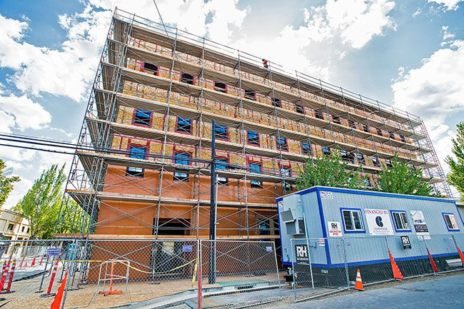 Marcus Larson / News-Register##The Atticus Hotel is under construction at Fourth and Ford streets downtown.