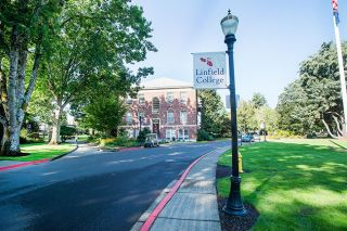 Marcus Larson / News-Register##Linfield College President Thomas Hellie has a list of goals to accomplish before retiring next June.