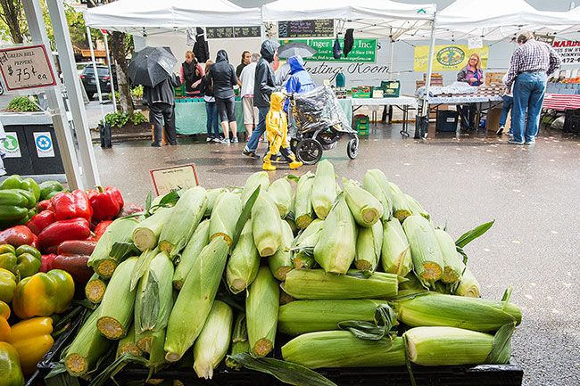 News-Register file photo##The McMinnville Farmer s Market begins again this Thursday, after wrapping up last year in this photo.