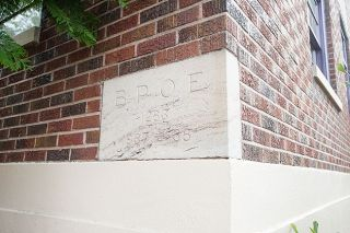 News-Register file photo##Elks laid a memorial cornerstone when the building was constructed in the 1930s.