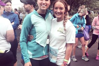 SubmittedRebecca Quandt, right, with her friend and running companion Raelyn Wilson of Seattle.
