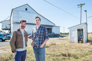 Rusty Rae/News-Register##Bram Yoffie, a miller and bread baker, and Wesley Stoller, a farmer, plan to use the historic granary on Stoller s farm near Amity to sell bread from farm-grown heritage grains.