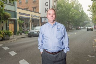 Rusty Rae/News-Register##Chris Chenoweth is taking a second run at the McMinnville City Council  for the love of Mac.