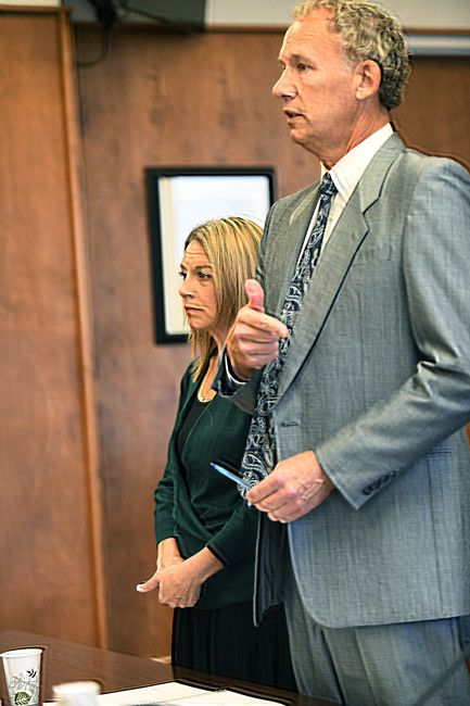 Rusty Rae/News-Register##Jennifer Weathers appeared with her attorney, Walter Todd of Salem, in Yamhill County Circuit Court