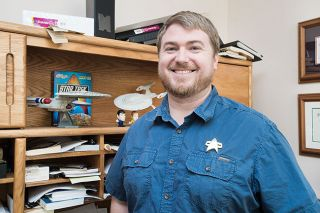 "Marcus Larson/News-Register##J.P. Bierly may be going where no Baptist music minister has gone before with his class, ""Theology of 'Star Trek.' """