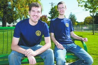 Marcus Larson/News-Register##Ben and Tim Dority are both joining the Navy. The brothers from Lafayette, who share an interest in science and technology, hope to serve on nuclear submarines.