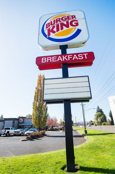 Marcus Larson / News-Register##The current Burger King sign exceeds city height regulations.