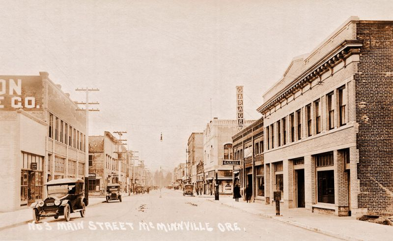 A picture of Third Street in McMinnville around 1919 from the collection of Michael Hafner. ##