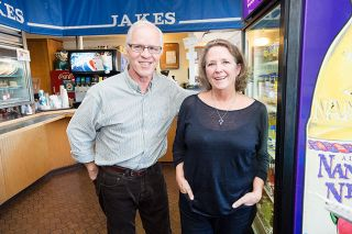 Marcus Larson/News-Register##Steve and Mary Allen in the final week of their Jakes Deli, a landmark in McMinnville for 38 years.
