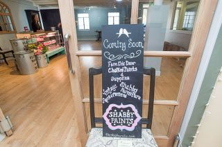 Marcus Larson/News-Register##Heather Gormand's new business, The Shabby Relic, features refurbished furniture, signs and other items, as well as a line of paints for do-it-yourselfers.