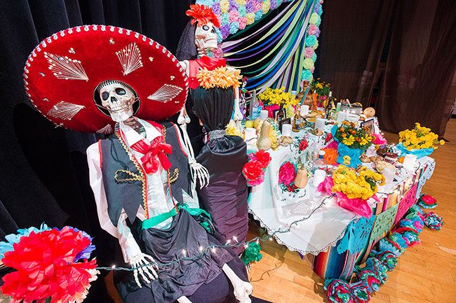 Marcus Larson/News-Register##The Day of the Dead was celebrated at the McMinnville Community Center this past weekend remembering friends and family that had passed on.