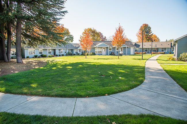 Rusty Rae/News-Register##Many of the senior citizens living on fixed and low incomes at the Willamette Place apartments at the corner of Northeast 19th Street and McDonald Lane are concerned about a proposed rent increase by Guardian Management LLC in Portland. Guardian executives propose increasing the basic rent on one-bedroom apartments next year from $546 per month to $650 -- an increase of $104. Basic rent on two-bedroom apartments would go from $620 to $900 per month -- an increase of $280.