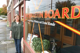 Rusty Rae/News-Register##The Bulletin Board, a weekly newsletter in Sheridan, is now in its fourth year. Editor and Publisher Marianne Thomson premiered the first issue Feb. 11, 2015.