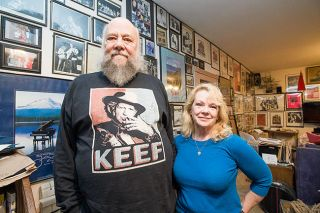 Marcus Larson/News-Register##Michael and Linda LeClair met through the Bouncing Baby Boomer Band, which evolved into the group Lil' Queenie. The couple have been married since 1998.