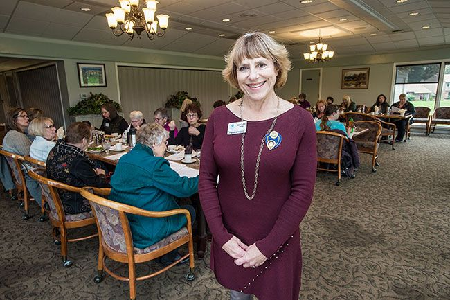 Marcus Larson / News-Register##Marti Crook is the second person from Soroptimist International of McMinnville to serve as regional governor. She's also been president of the local club several times.