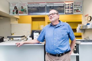 Marcus Larson/News-Register##John McCleery is retiring after 15 years as Willamina's postmaster and 38 years in the postal service. He knows just about everyone in town on a first-name basis, McCleery said.